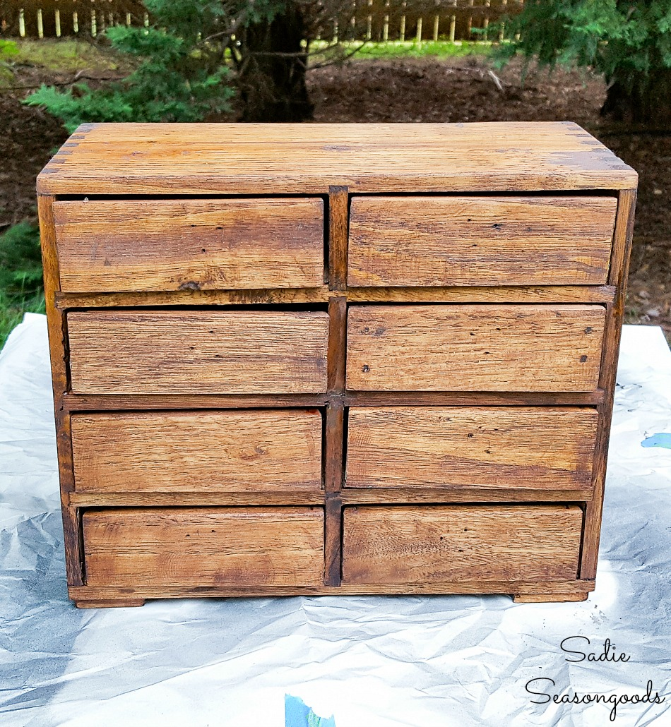 Getting the look of an old library card catalog with honey wood stain