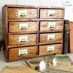 Creating a Library Card Catalog and Vintage Farmhouse Decor from Thrift Store Furniture
