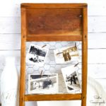 Upcycling an Old Washboard into a Chicken Wire Frame as Primitive Decor