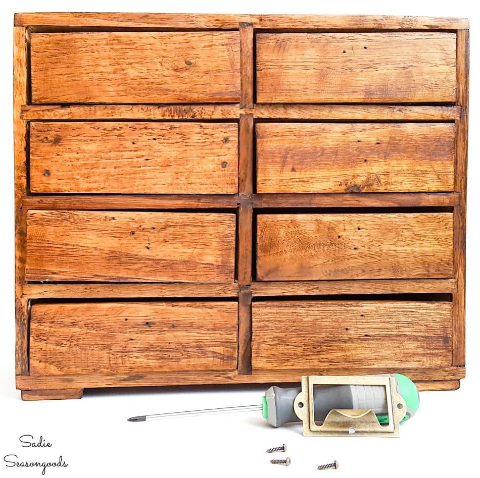 card catalog drawer pulls