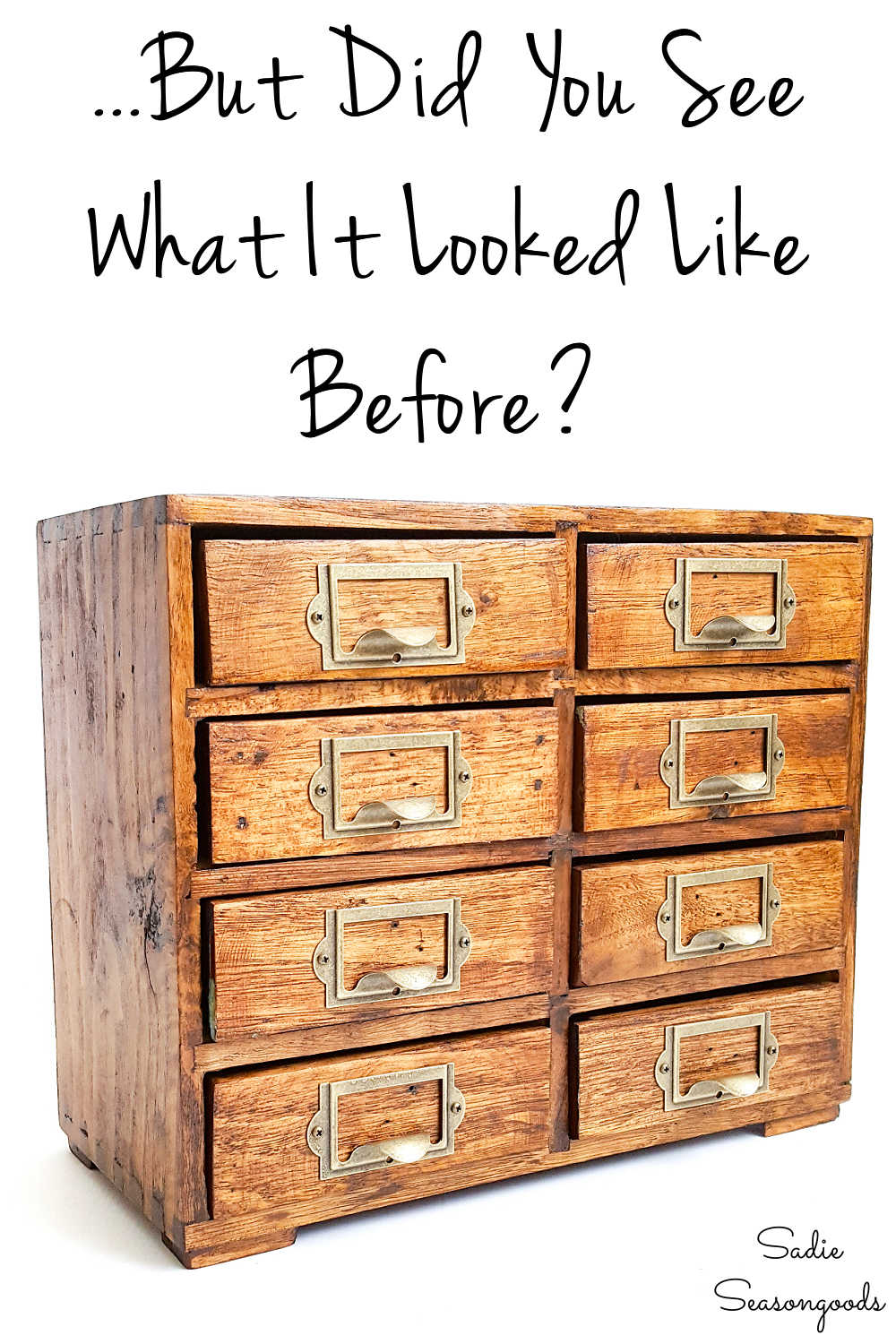 thrift store version of a vintage card catalog