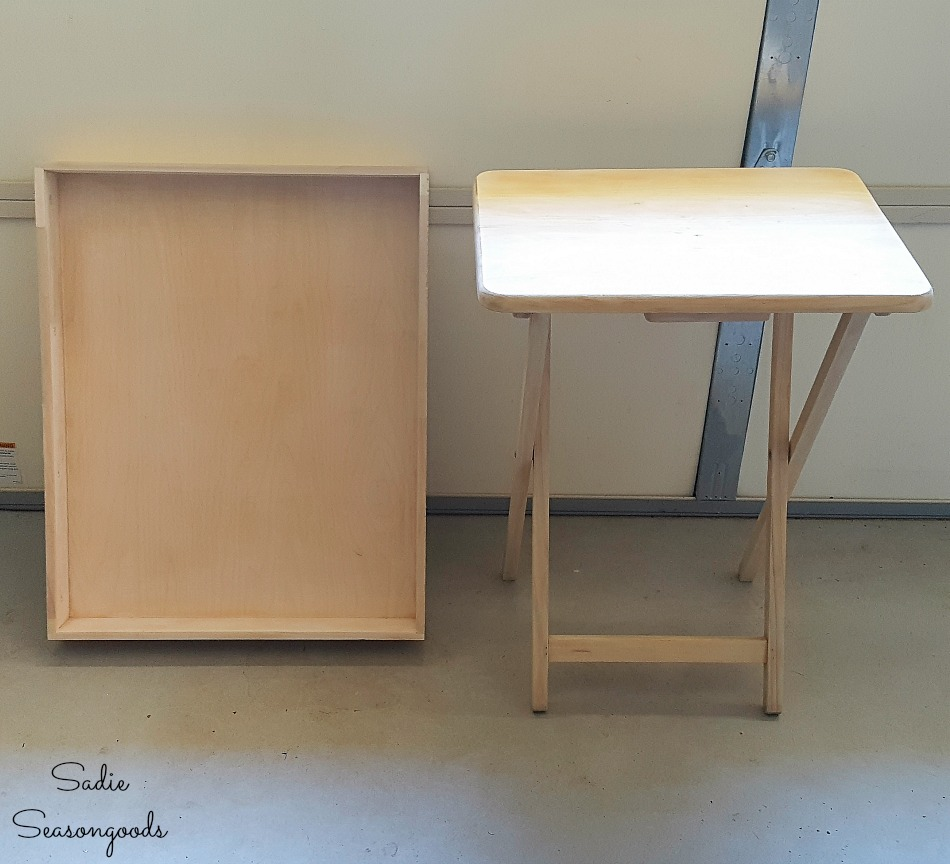 Building a planter bench with a wooden tray table and shallow drawer