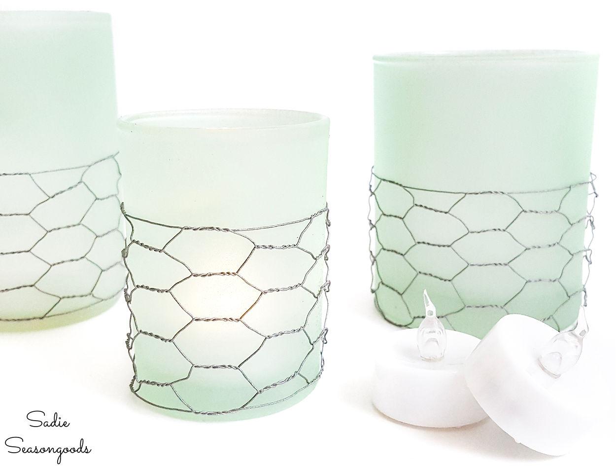 coastal candle holders