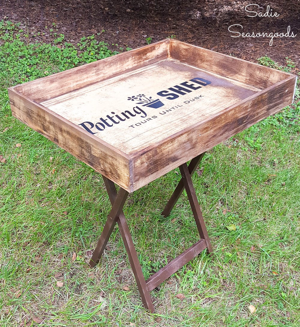portable potting bench