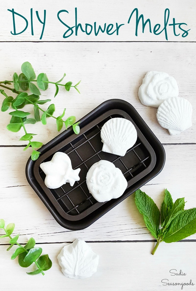 Repurposing the silicone butter molds for DIY shower melts