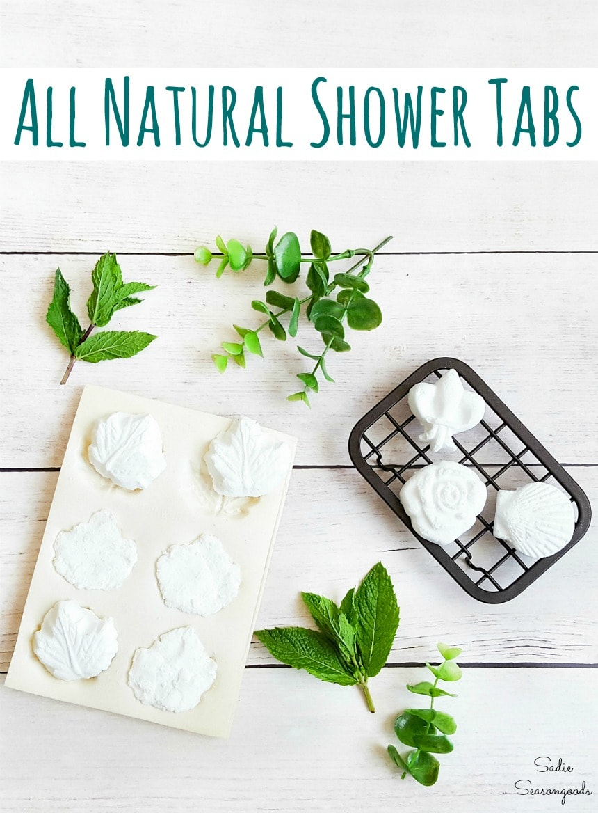 Shower tabs with essential oils for stuffy nose