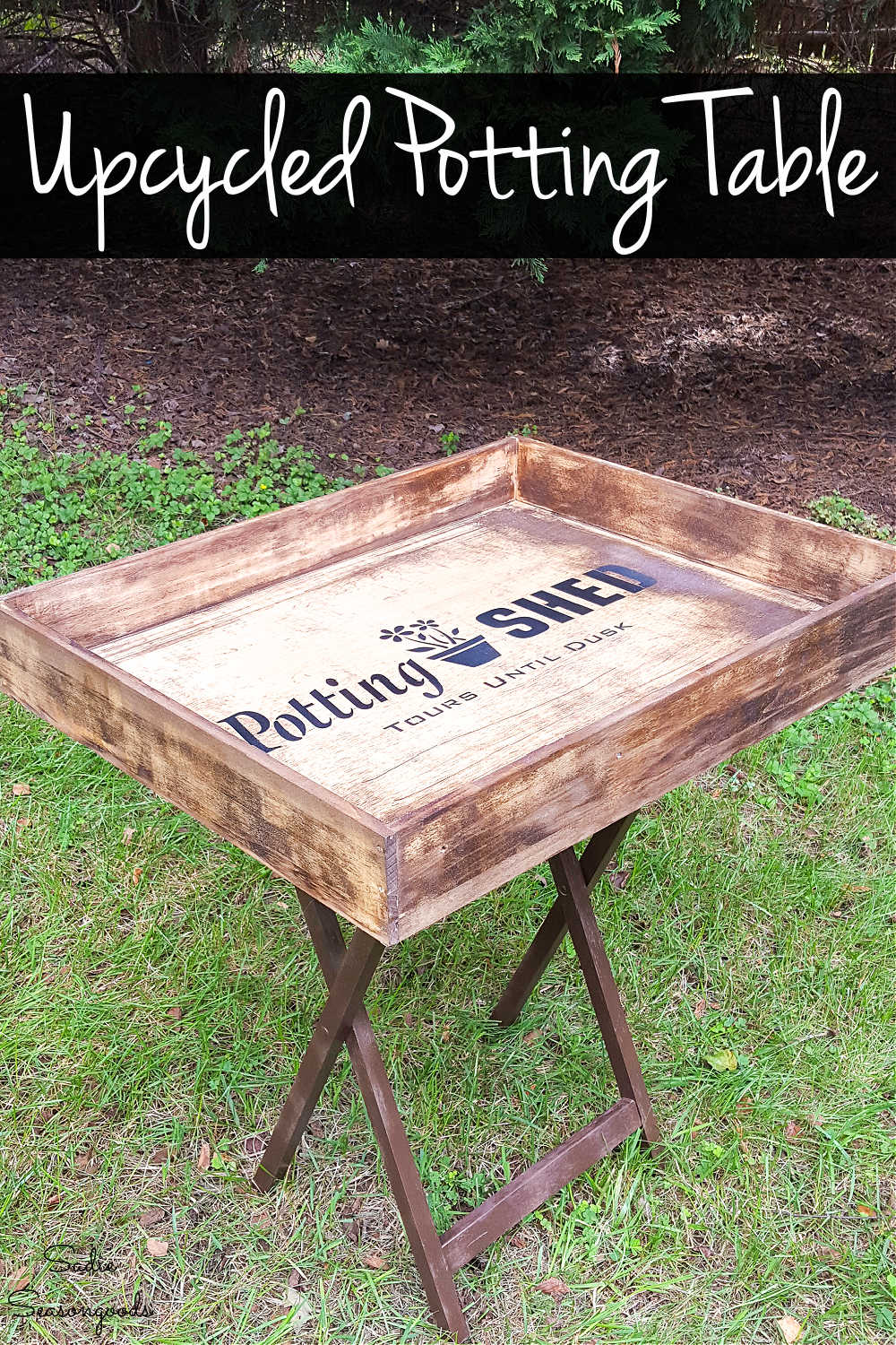 small potting table