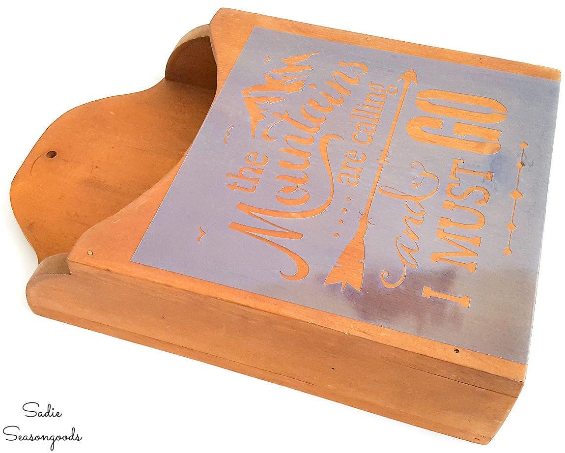 craft stencil for mountain cabin decor