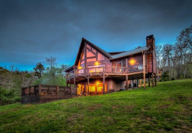 mountain cabin for rent in blue ridge ga