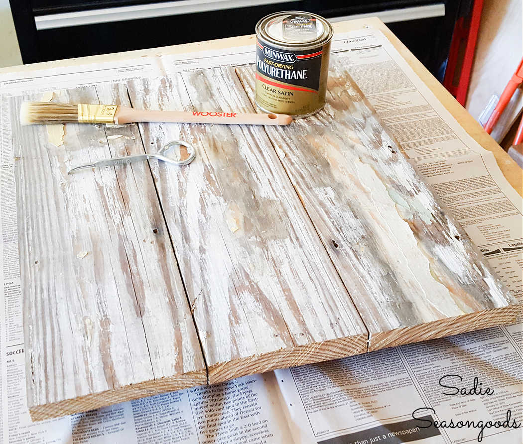 polyurethane to seal the chippy paint finish