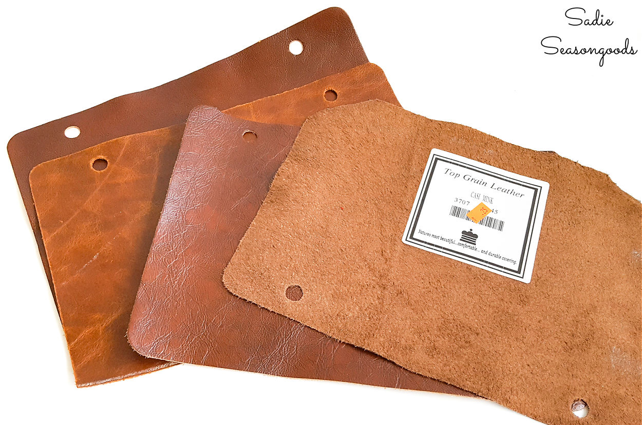 upcycling idea for leather scraps