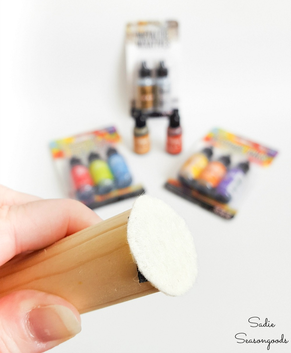 Making a felt applicator for alcohol inks