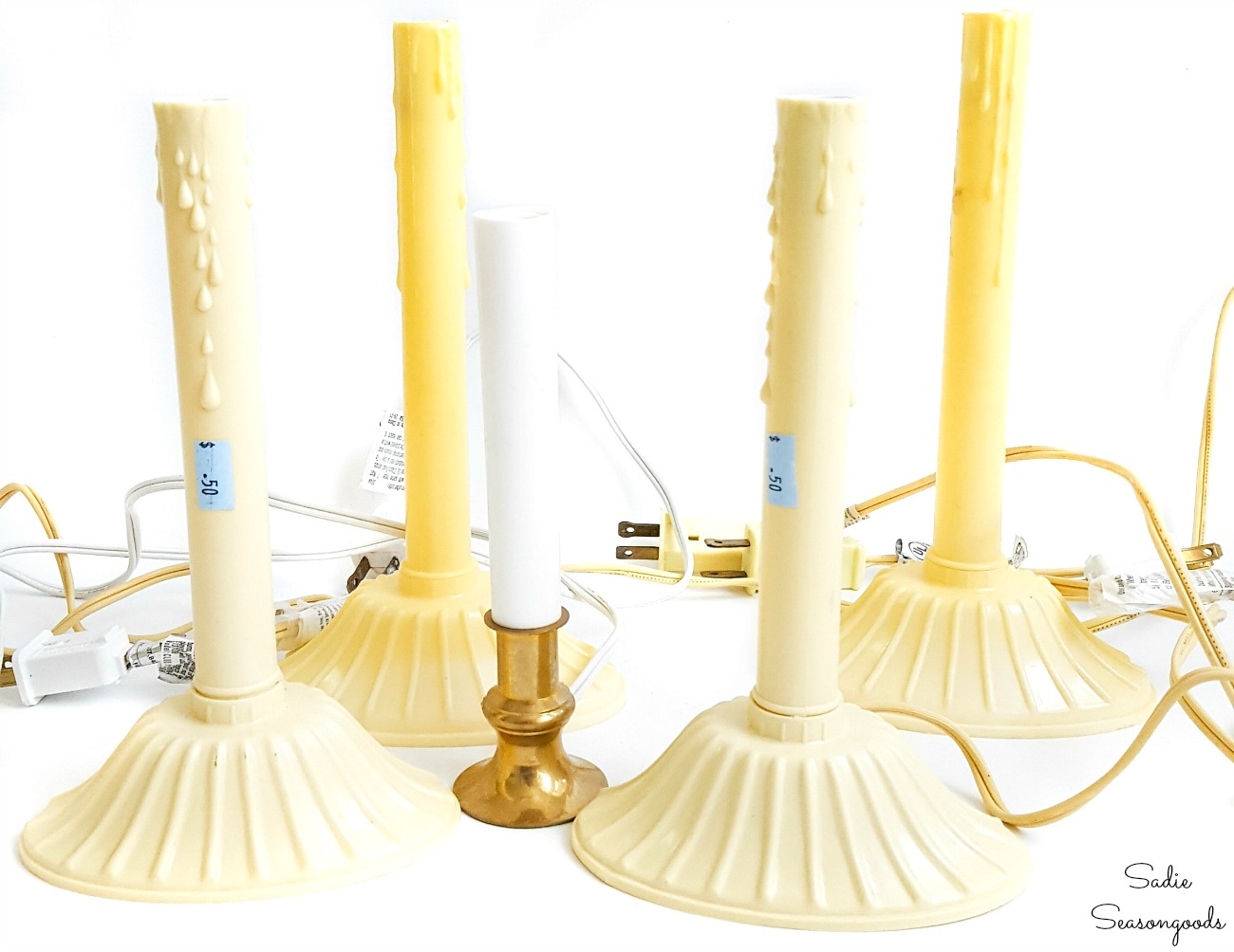 Repurposing projects with electric Christmas candles for windows