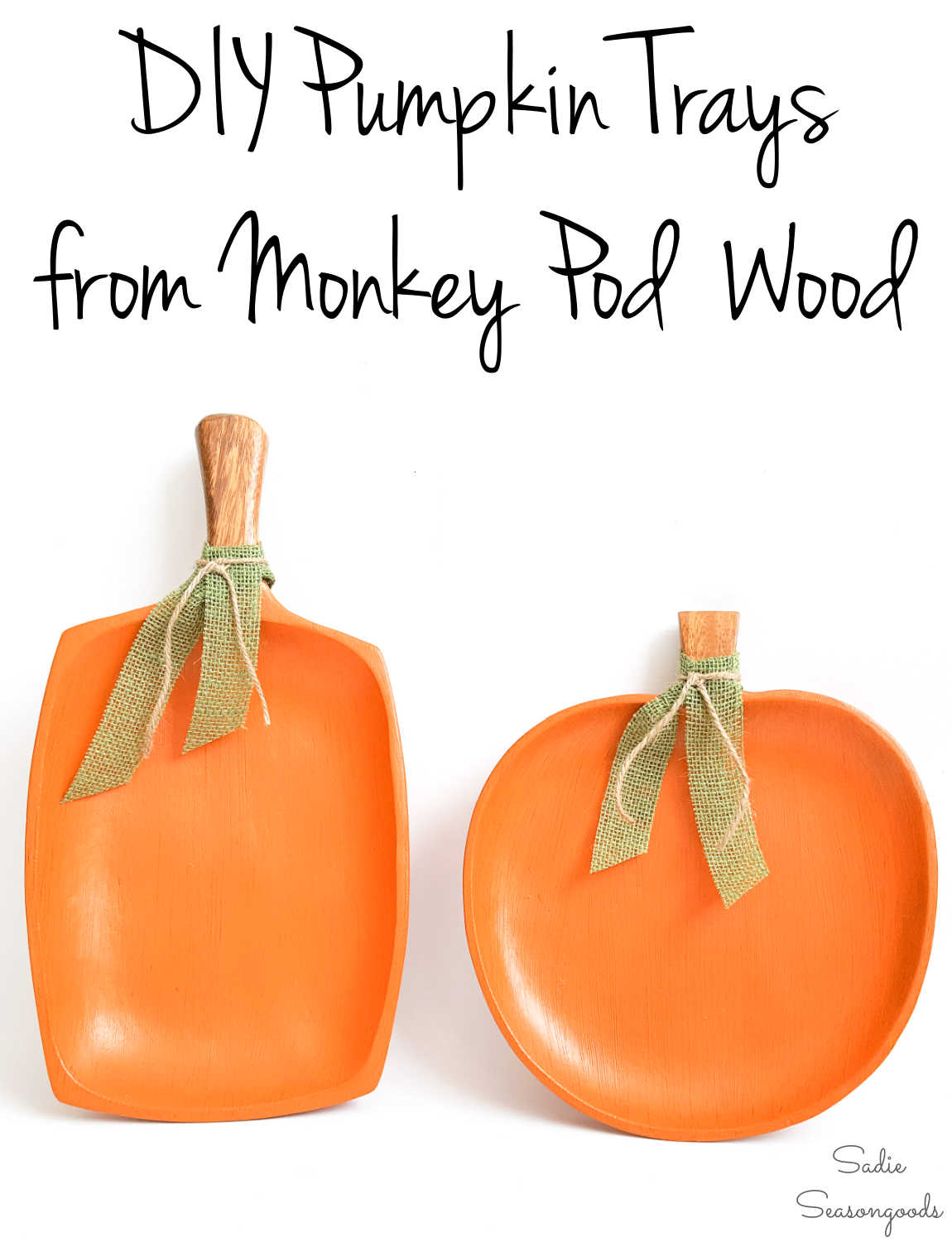 wooden pumpkins to paint for fall decor