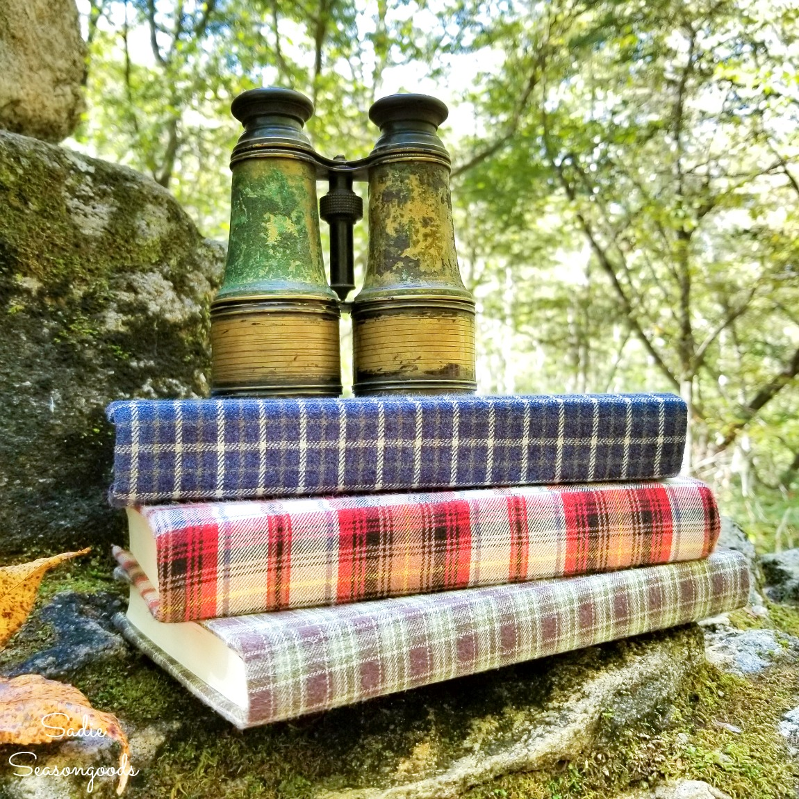 Book Decor with Flannel Shirts for Cozy Home Decor