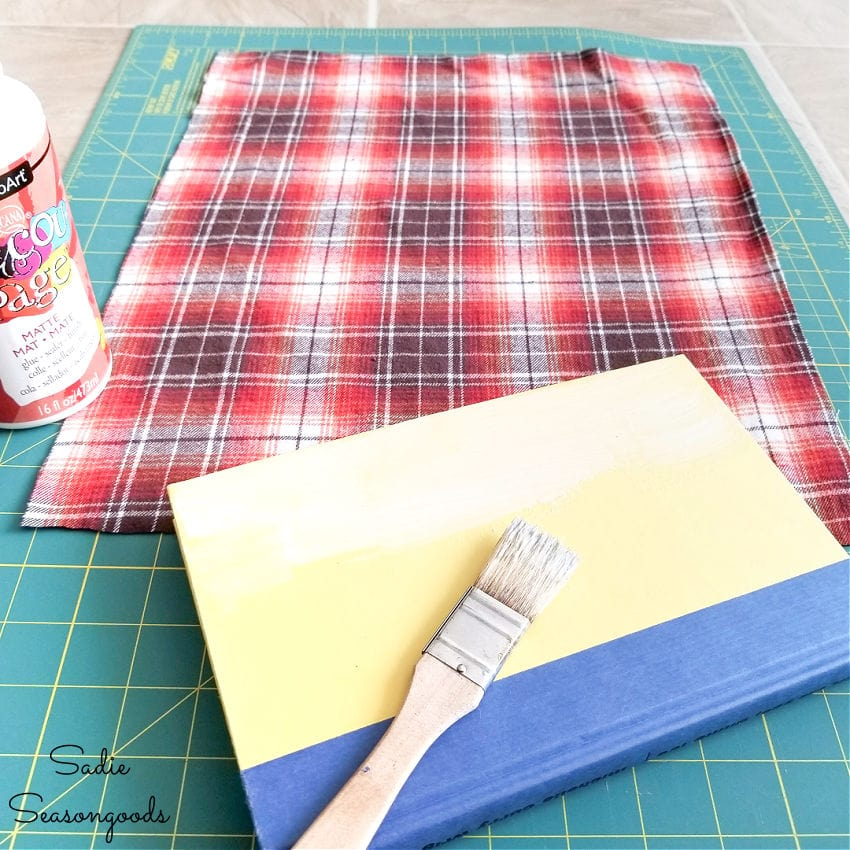 covering books with fabric
