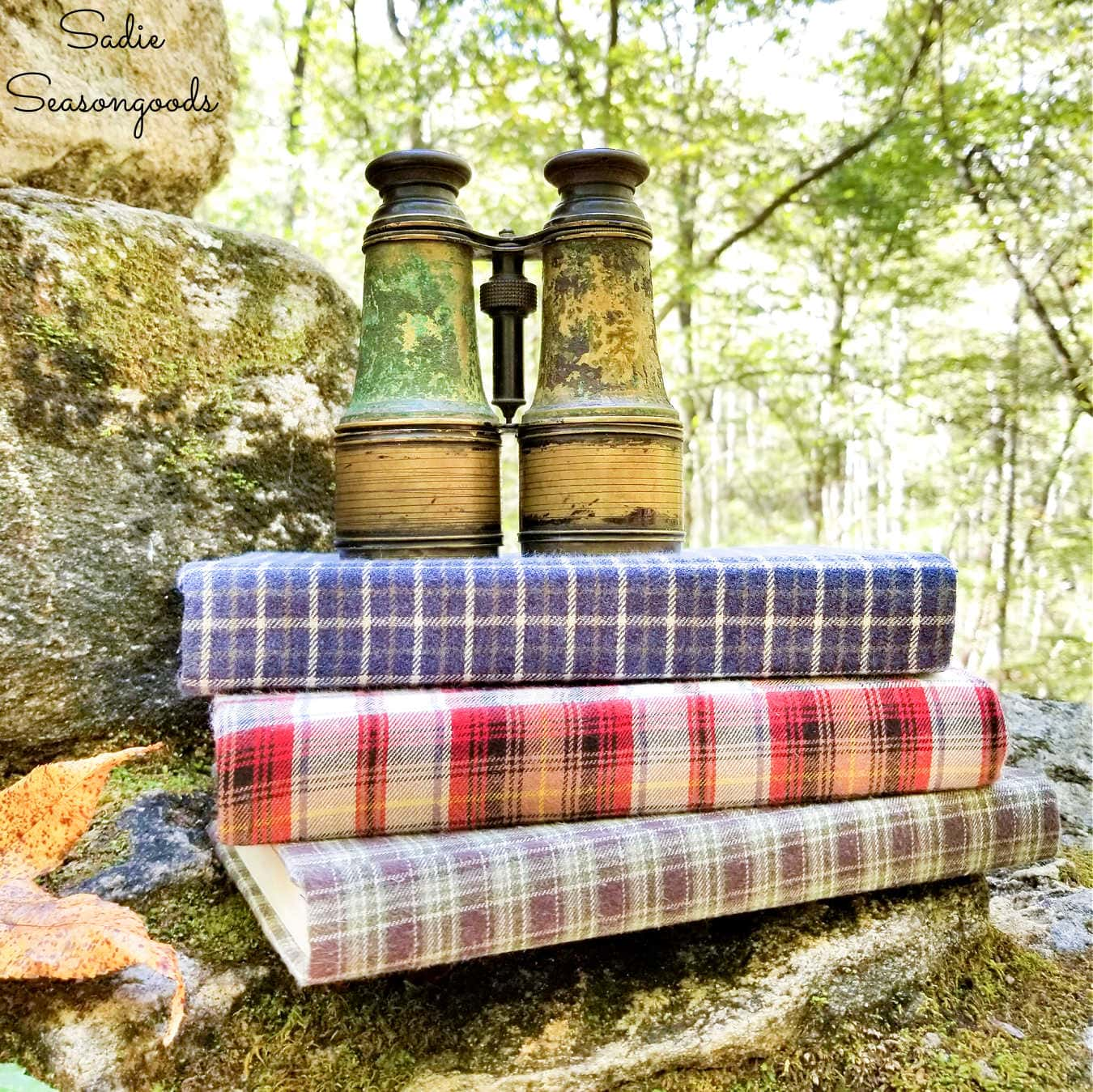 Fabric Covered Books for Cozy Home Decor