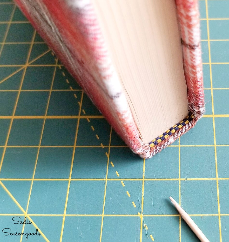 finishing the fabric book covers