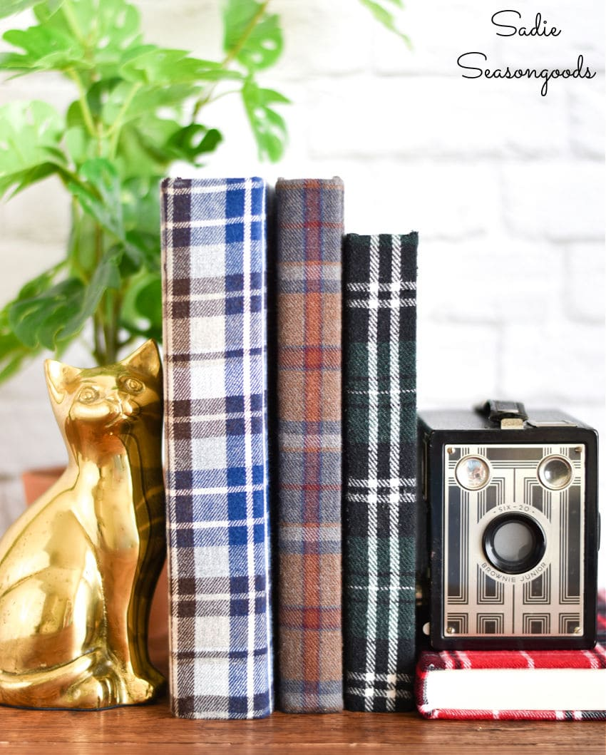 flannel covered books from crafting with flannel
