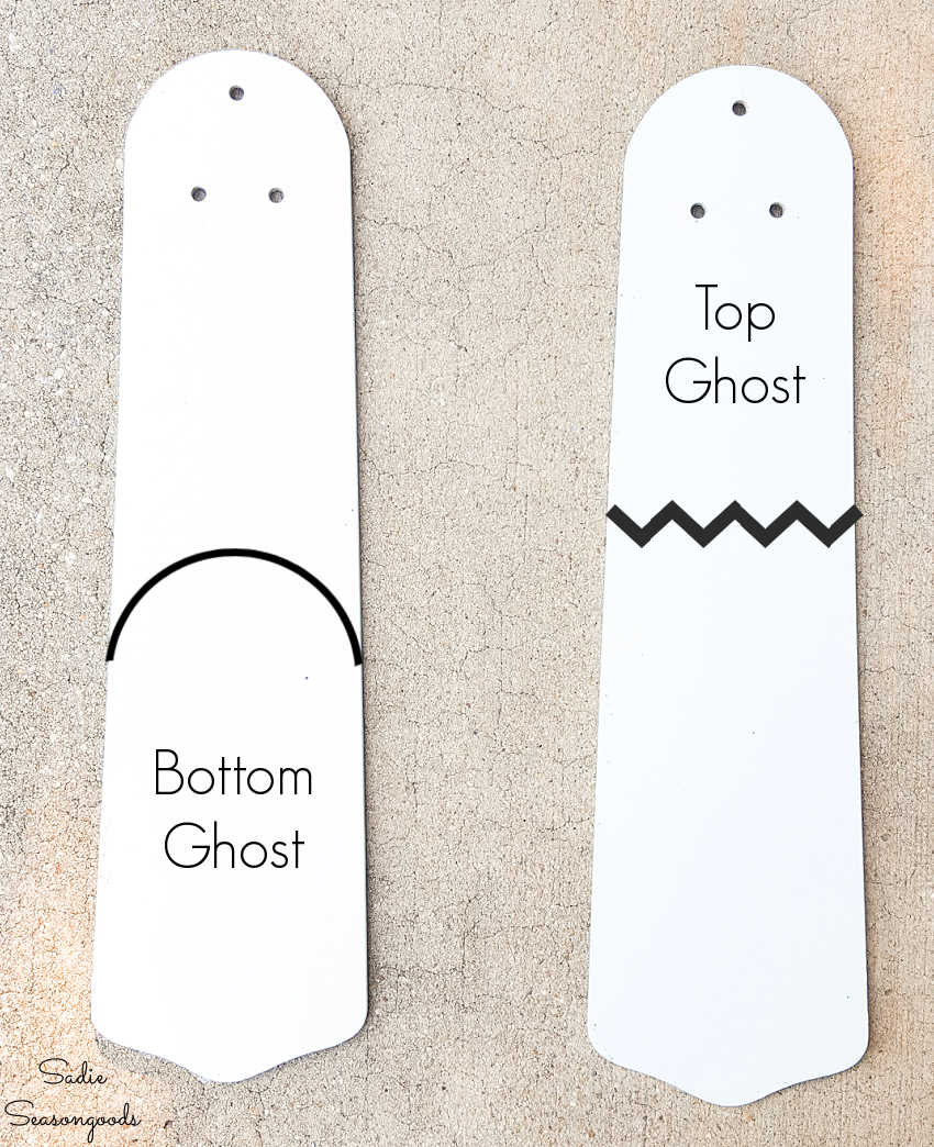 ghost ornaments for halloween decor
