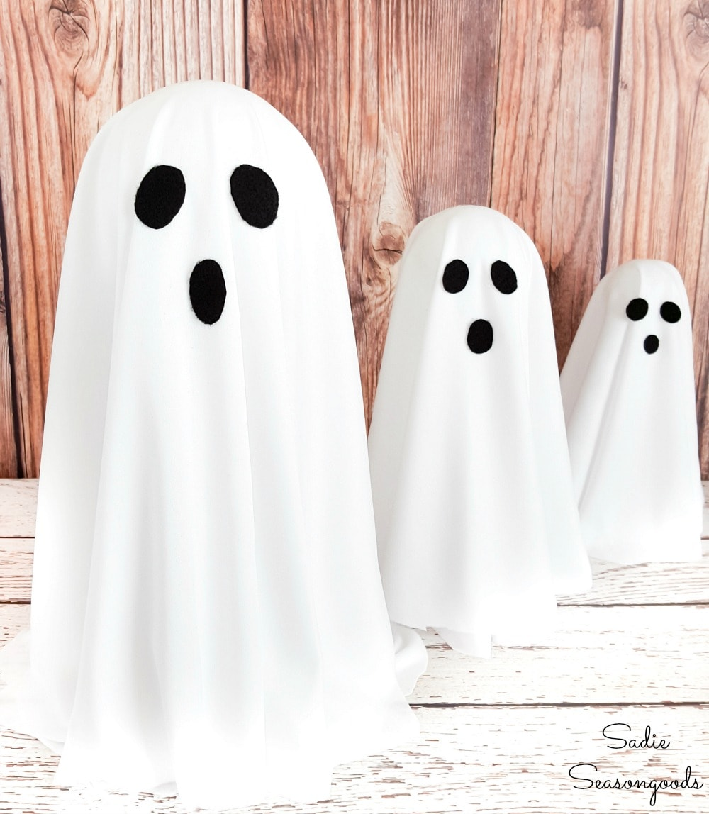 Halloween ghost decorations that seem to float