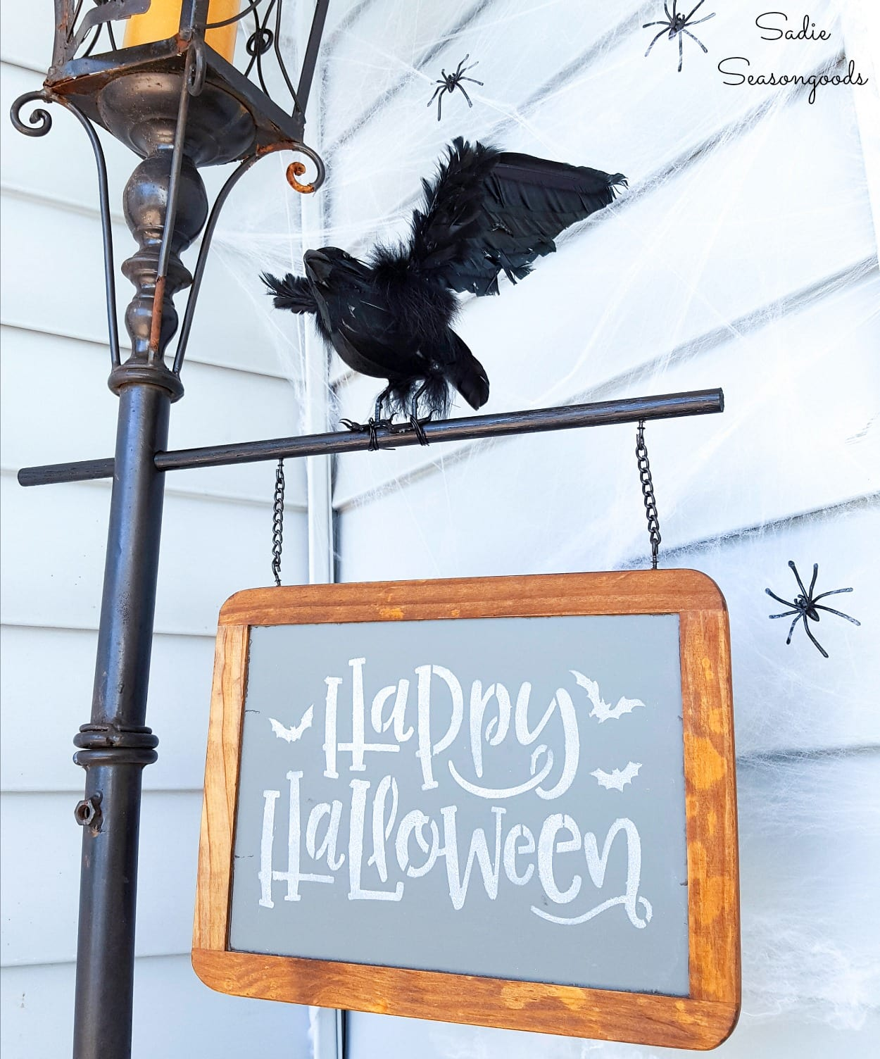 Halloween Lamp Post for Halloween Porch Decorations
