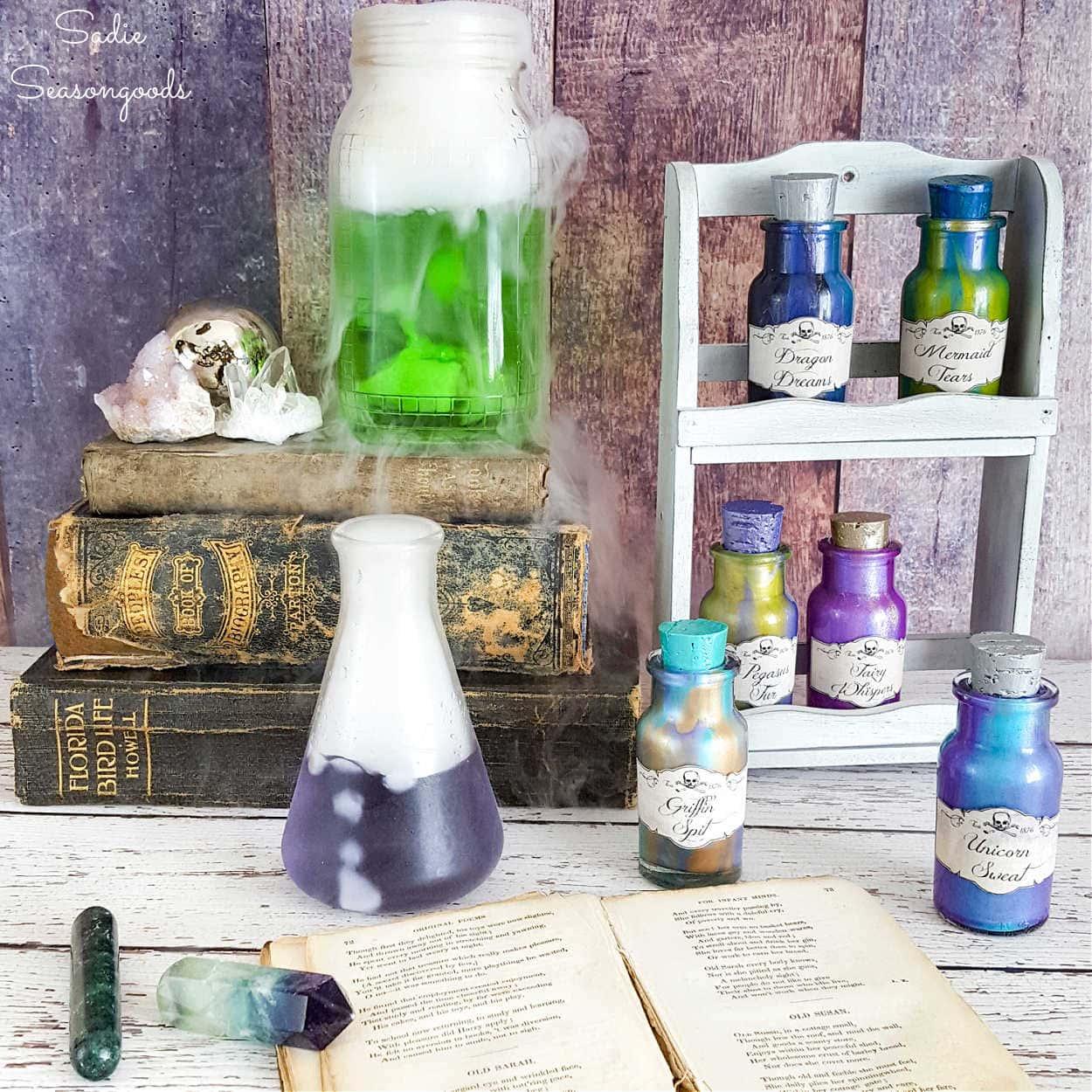 Magic Potion Bottles for Halloween