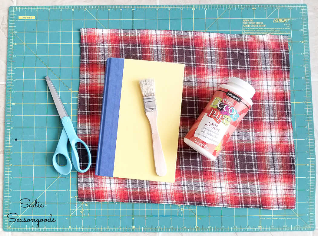 making the fabric covered books