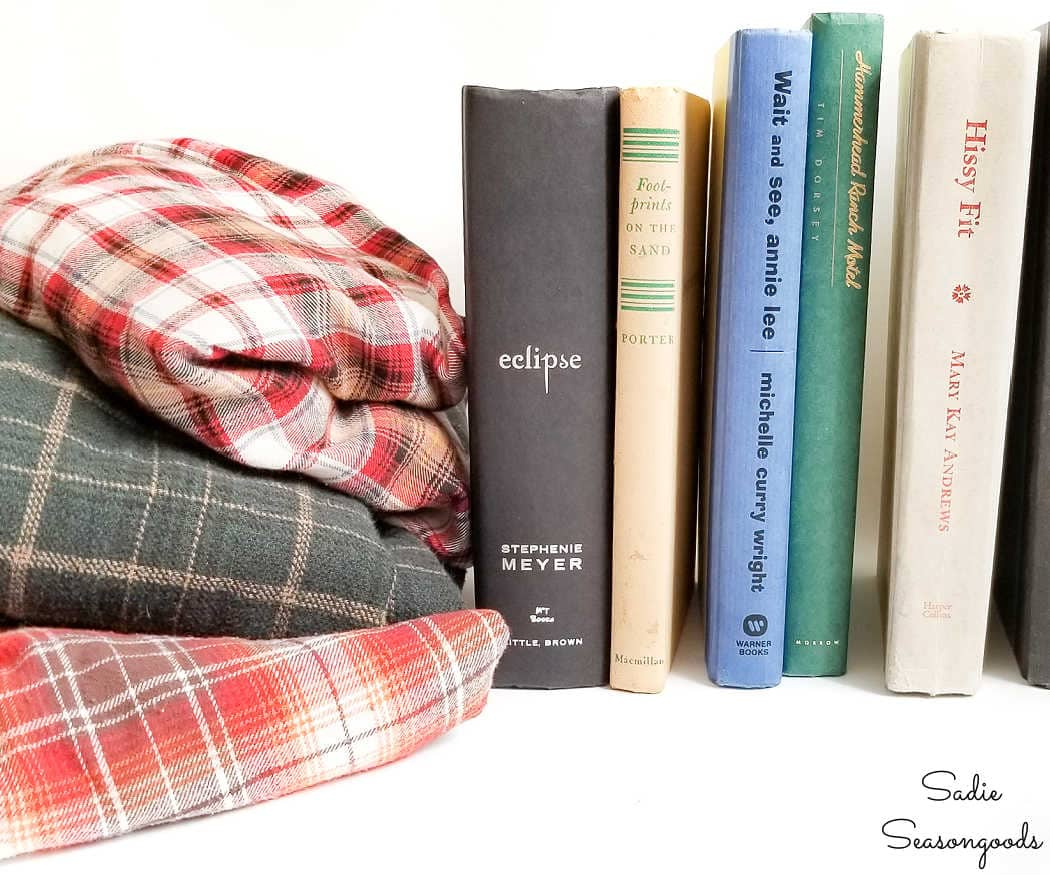 upcycling books from the thrift store