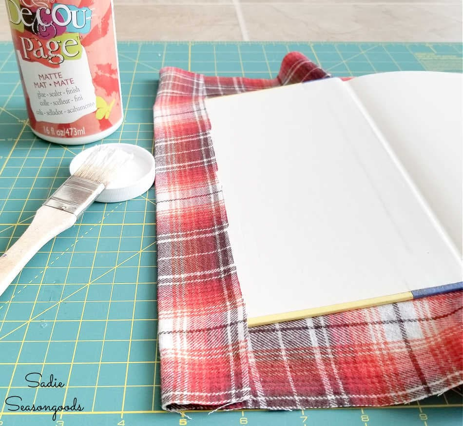 upcycling books with decoupage