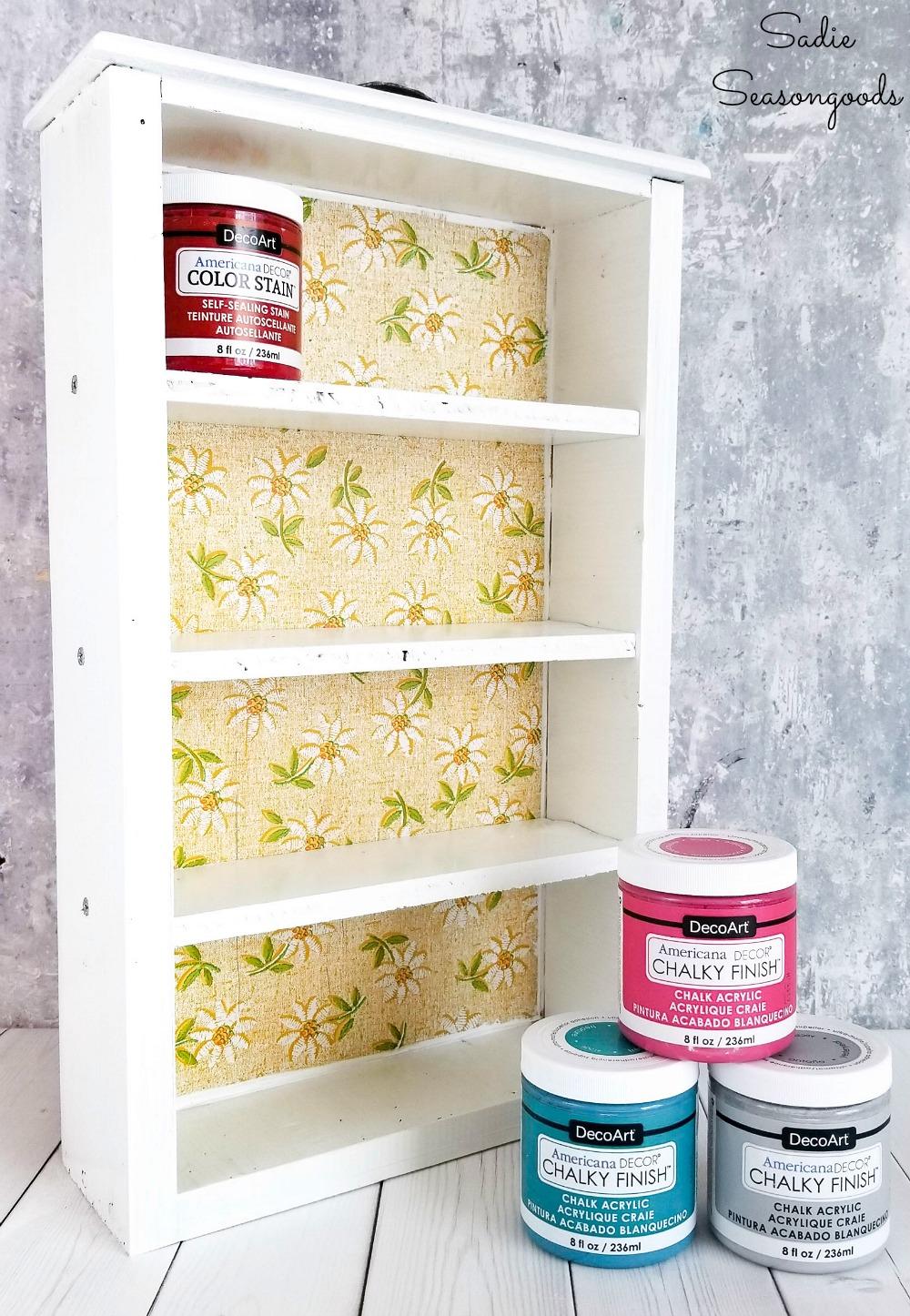 Acrylic paint storage for craft room organization