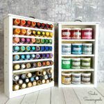 Craft Paint Storage with Wooden Storage Drawers