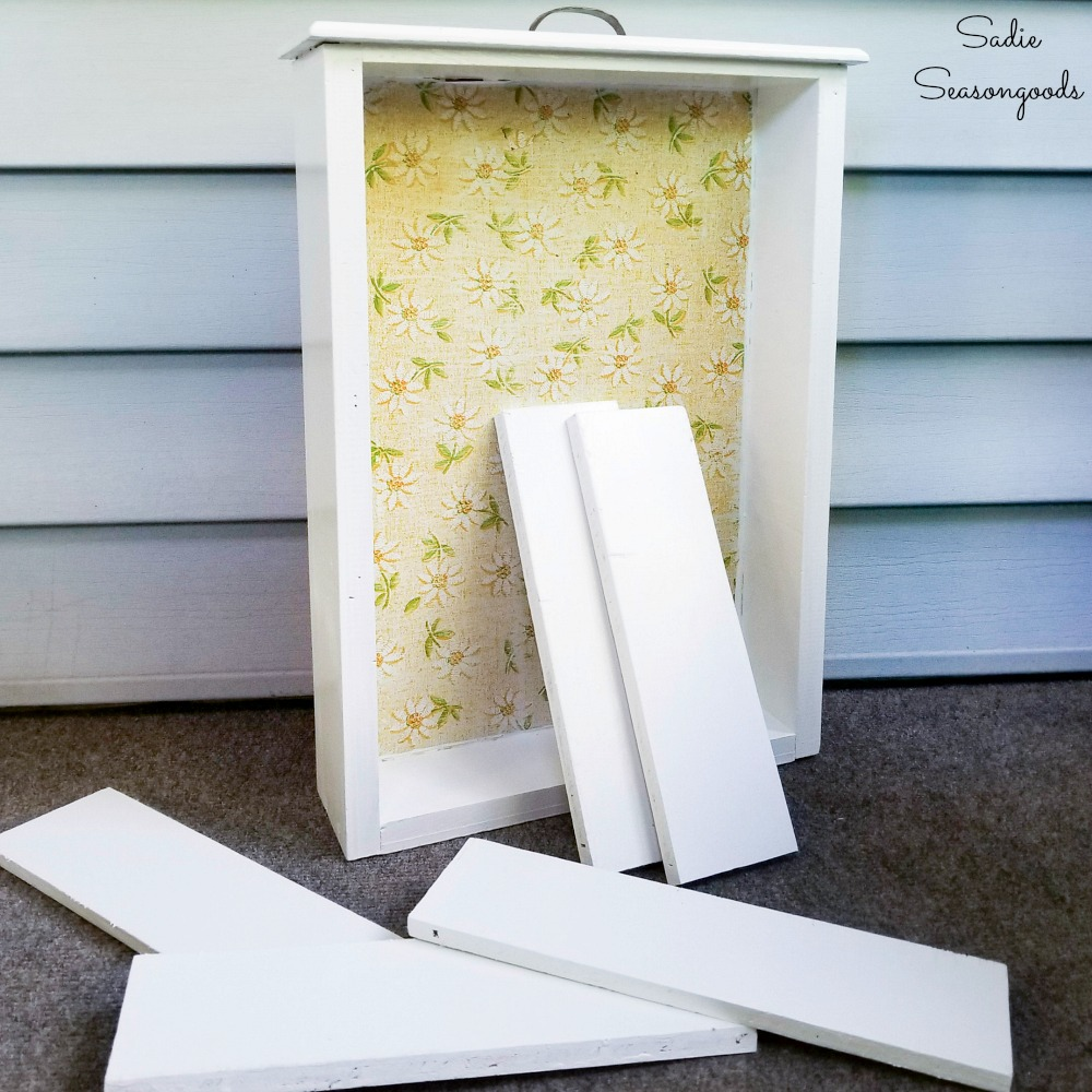 Making a craft paint organizer with a wooden drawer