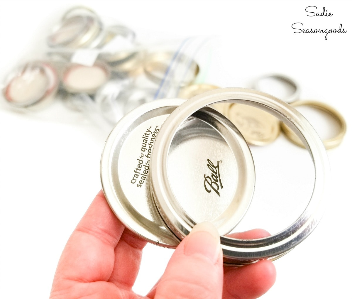 Mason jar bands and lids for craft ideas