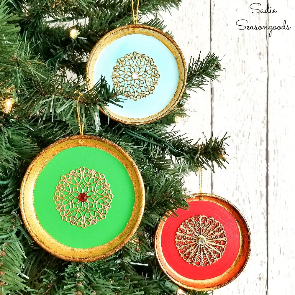 Exotic Christmas Ornaments from Florentine Coasters