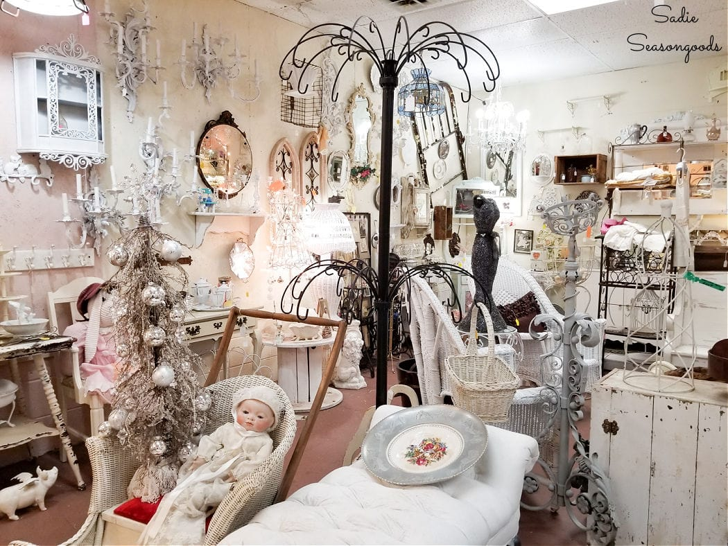 shabby chic antique shopping