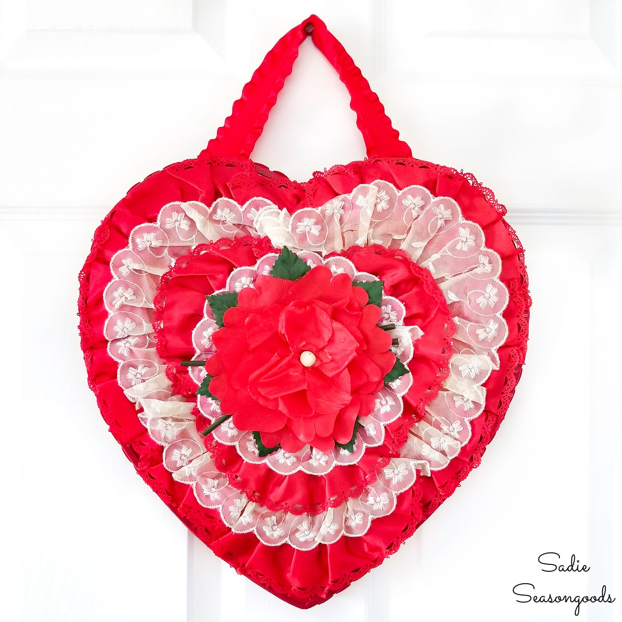 DIY Wreath with a Valentine's Candy Box