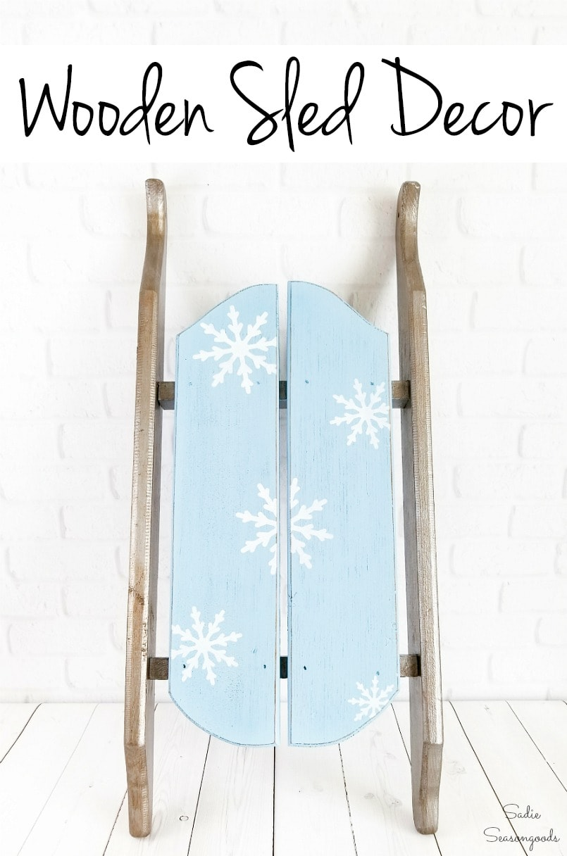 January decorating with a wooden sled
