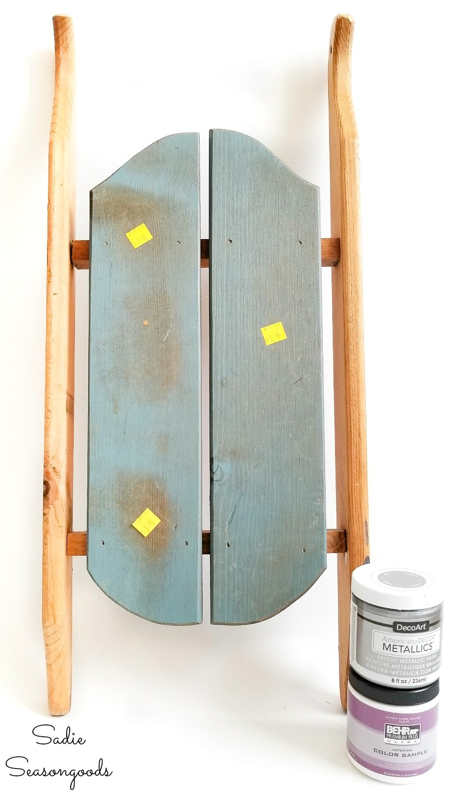 Paint for wooden sled decor