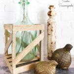 Demijohn Bottle or Demijohn Vase from Empty Glass Bottles for French Country Decor
