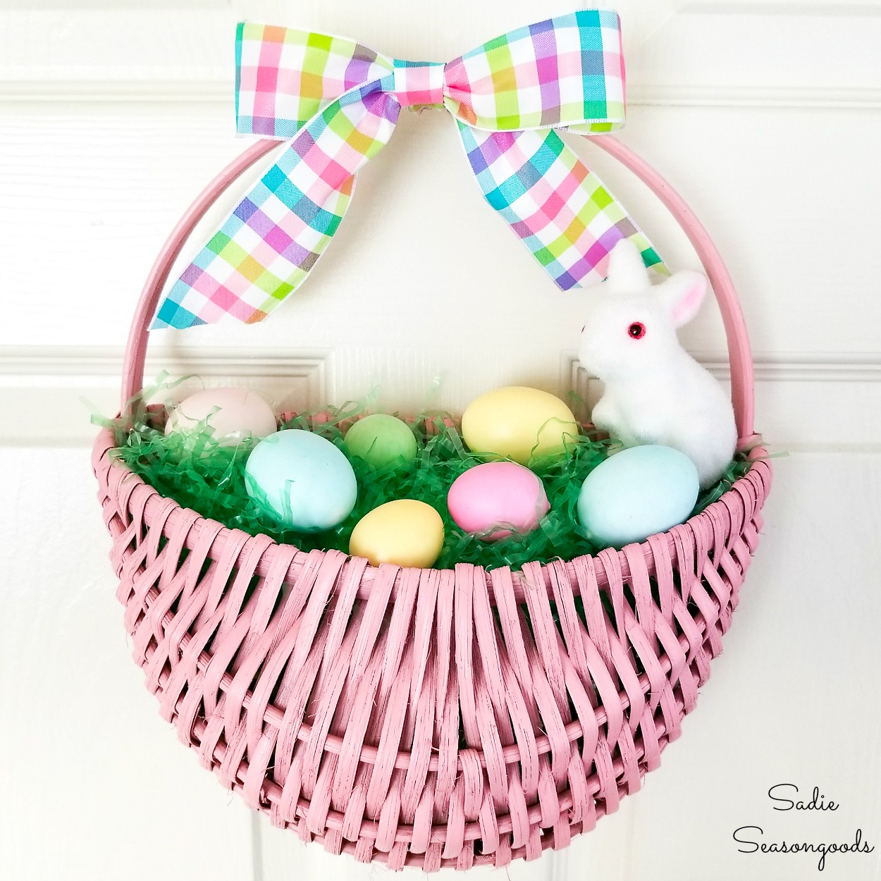 Easter Door Decorations with a Hanging Door Basket
