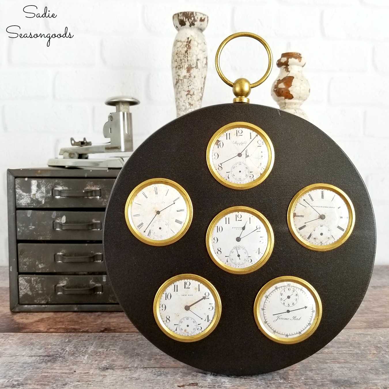Steampunk Decor from a Multi Photo Frame
