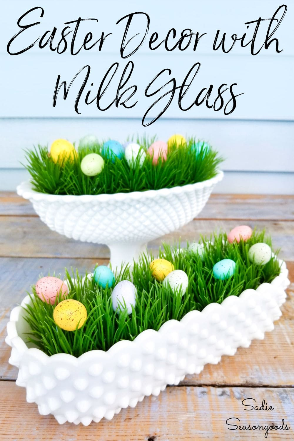 Decorating with milk glass