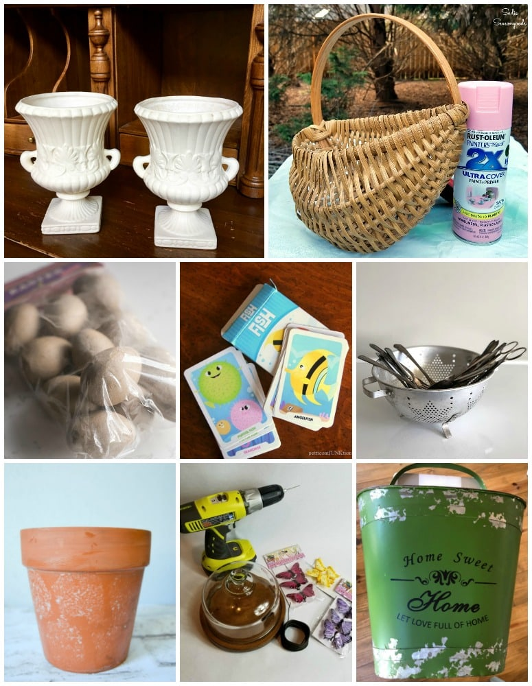 repurposed crafts from thrift stores and yard sales