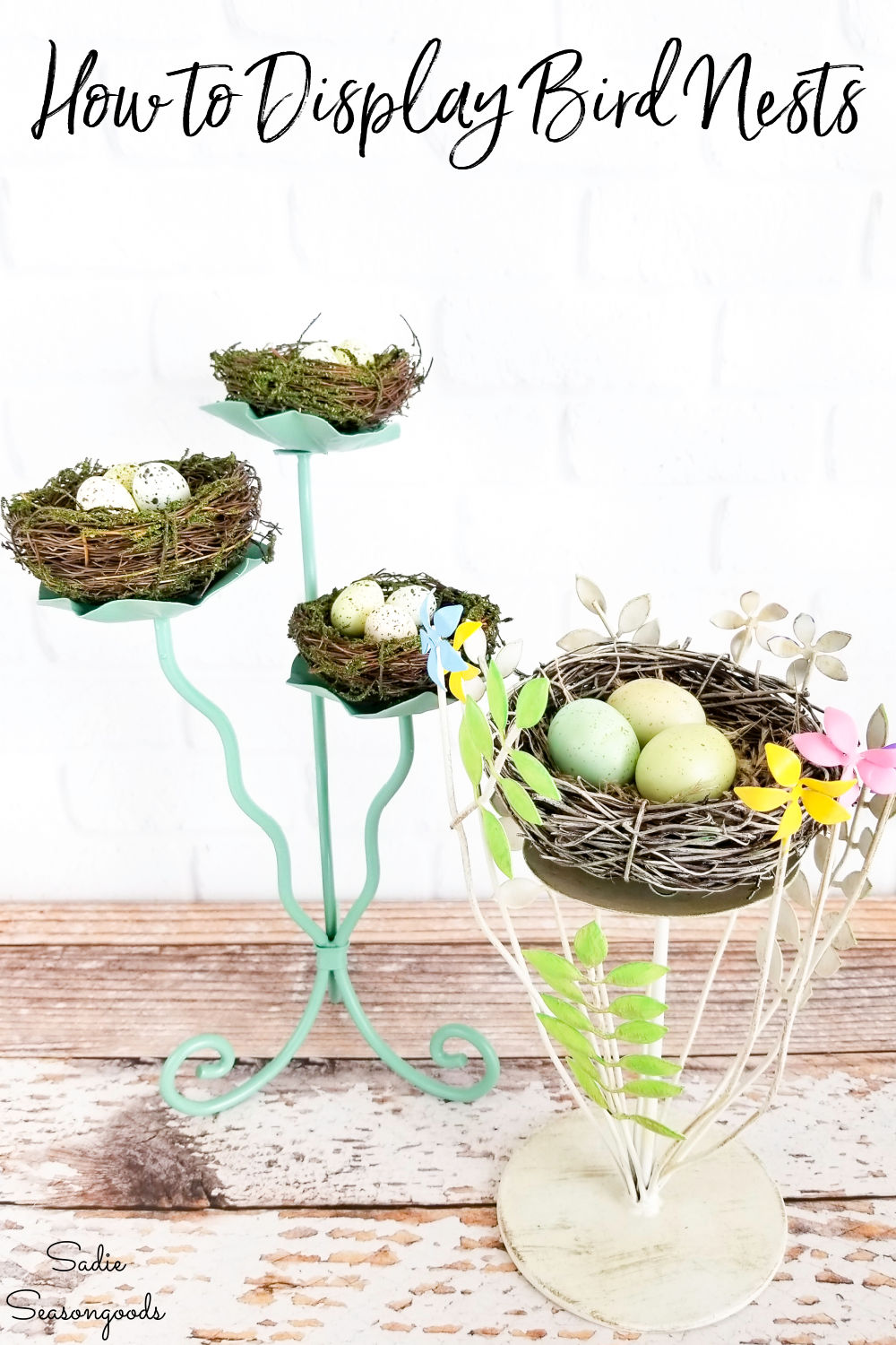 spring decorating ideas for birds nests