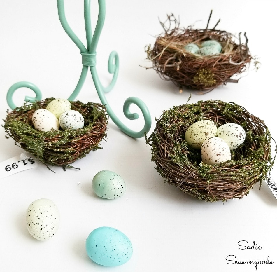 spring decorating ideas with bird nest decor
