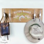 Nautical Wall Decor with Vintage Drawer Handles that Look Like Boat Cleats