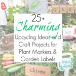 25+ Upcycling Crafts for Garden Markers or Plant Labels