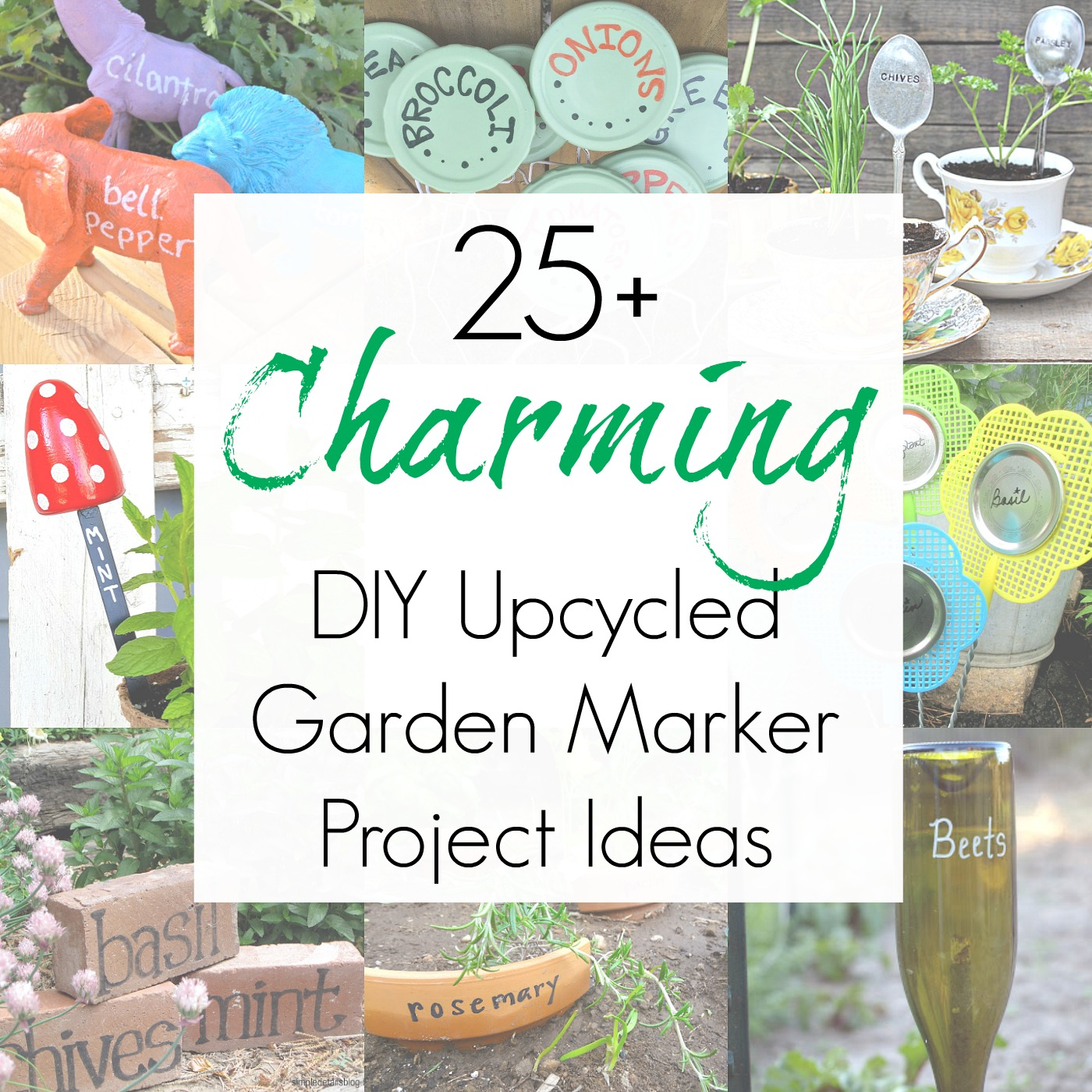 25+ Upcycling Ideas for Plant Markers / Plant Labels