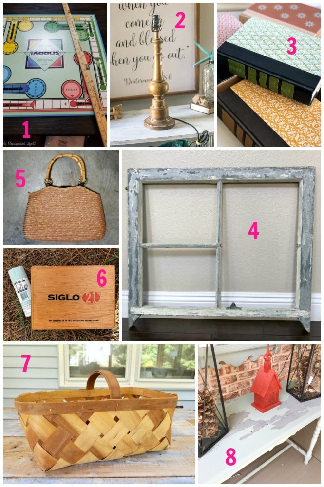 thrift store crafts from bloggers who upcycle